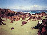 James Abbott McNeill Whistler The Coast of Brittany painting