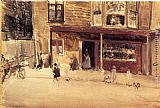 James Abbott McNeill Whistler The Shop - An Exterior painting
