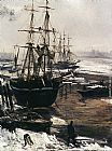James Abbott McNeill Whistler The Thames in Ice painting