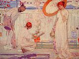 James Abbott McNeill Whistler The White Symphony Three Girls painting