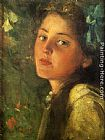 James Carroll Beckwith A Wistful Look painting