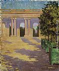 James Carroll Beckwith Arcade of the Grand Trianon, Versailles painting