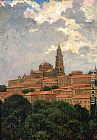 James Carroll Beckwith Cathedral at le Puy painting