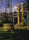 James Carroll Beckwith In the Gardens of the Villa Palmieri painting