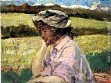James Carroll Beckwith Lost in Thought painting