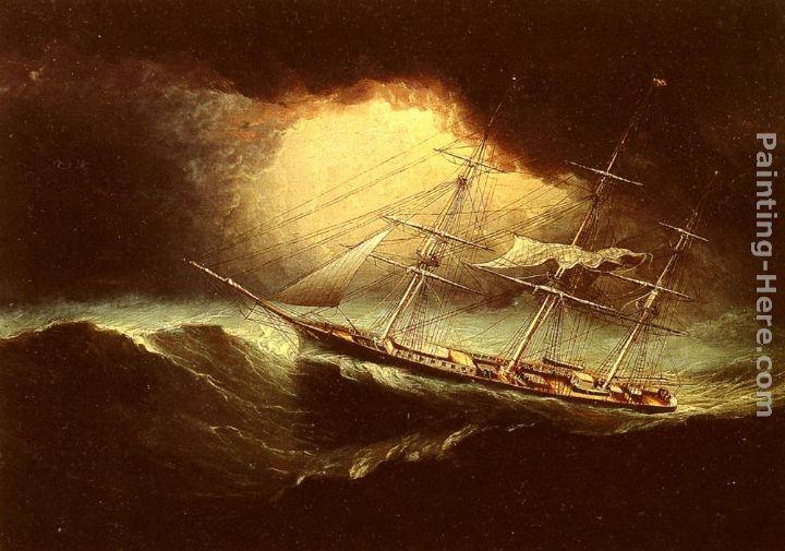 Sailing Ship Painting Storm Sailing Ship Painting Storm Ship Painting Storm