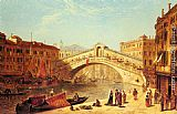 James Holland A View of the Rialto Bridge, Venice painting