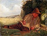 James Smetham Afternoon Rest painting