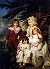 michael goddard 7 deadly zins Canvas Prints - Portrait Of The Hon. Juliana Talbot, Mrs Michael Bryan (1759-1801), With Her Children Henry, Maria And Elizabeth