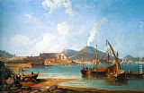 James Wilson Carmichael The Bay of Naples painting
