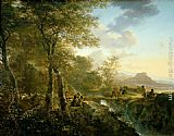 Jan Both Italian Landscape with Artist painting