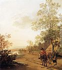 Jan Both Road by a Lake painting