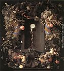 Jan Davidsz de Heem Eucharist in Fruit Wreath painting