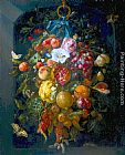 Jan Davidsz de Heem Festoon of Fruit and Flowers painting
