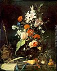 Jan Davidsz de Heem Flower Still-life with Crucifix and Skull painting