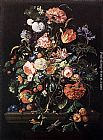 Jan Davidsz de Heem Flowers in Glass and Fruits painting