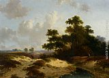 Jan Evert Morel Figures in a Summer Landscape painting