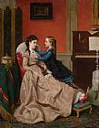 Jan Frederik Pieter Portielje Mothers Darling painting