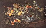 Jan Fyt Still-life with Fruits and Parrot painting