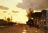 Jan Hendrik Weissenbruch Along the Canal painting