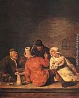 Jan Miense Molenaer Peasants in the Tavern painting