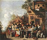Jan Miense Molenaer Tavern of the Crescent Moon painting