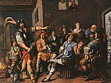 Jan Miense Molenaer The Denying of Peter painting