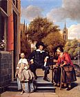 Jan Steen A Burgher of Delft and His Daughter painting