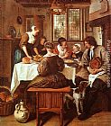 Jan Steen Grace before the Meal painting
