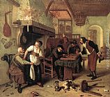 Jan Steen In the Tavern painting