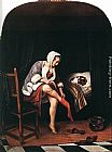 Jan Steen The Morning Toilet painting