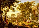 Jan Van Huysum A classical landscape with the Worship of Bacchus painting