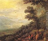 Jan the elder Brueghel Gathering of Gypsies in the Wood painting
