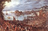 Jan the elder Brueghel Great Fish-Market painting