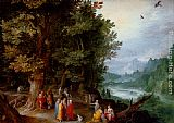 Jan the elder Brueghel Saint John Preaching In The Wilderness painting