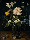 Jan the elder Brueghel Still Life with Flowers in a Glass painting