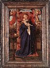 Jan van Eyck Madonna and Child at the Fountain painting