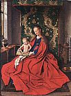 Jan van Eyck Madonna with the Child Reading painting
