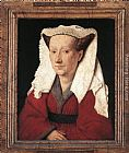 Jan van Eyck Portrait of Margareta van Eyck painting