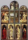 Jan van Eyck The Ghent Altarpiece (wings closed) painting