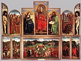 Jan van Eyck The Ghent Altarpiece (wings open) painting