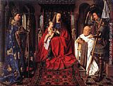 Jan van Eyck The Madonna with Canon van der Paele painting