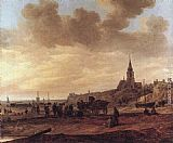 Jan van Goyen Beach at Scheveningen painting