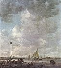 Jan van Goyen Marine Landscape with Fishermen painting