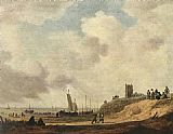 Jan van Goyen Seashore at Scheveningen painting
