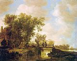 Jan van Goyen The Footbridge painting