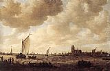 Jan van Goyen View of Dordrecht painting