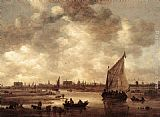 Jan van Goyen View of Leiden painting