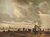 Jan van Goyen View of The Hague in Winter painting