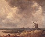 Jan van Goyen Windmill by a River painting